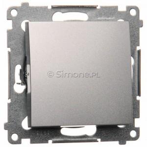 Simon 54 DP1.01/43 - Przycisk zwierny pojedyncze 10A - Srebrny Mat - Podgląd zdjęcia nr 1