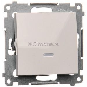 Simon 54 DP1AL.01/11 - Przycisk zwierny podwójny z podświetleniem typu LED w kolorze niebieskim 16A - Biały - Podgląd zdjęcia nr 1