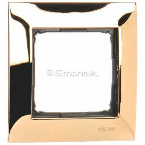 Simon 54 DR1/66 - Ramka pojedyncza wykonana z metalu - Złoto - Podgląd zdjęcia nr 1