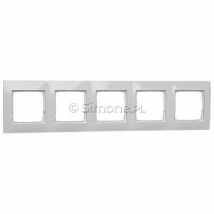 Simon 54 DR5/11 - Ramka pięciokrotna - Biały - Podgląd zdjęcia nr 1