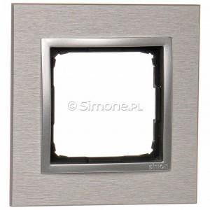 Simon 54 DRN1/77 - Ramka pojedyncza Nature Metal - Inox Klasyczny - Podgląd zdjęcia nr 1