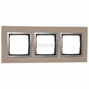 Simon 54 DRN3/92 - Ramka potrójna Nature Beton - Butti Cementi - Podgląd zdjęcia nr 1