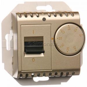 Simon 54 DRT10W.02/44 - Regulator temperatury z czujnikiem wewnętrznym - Złoty Mat - Podgląd zdjęcia nr 1