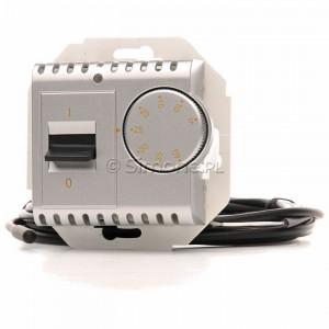 Simon 54 DRT10Z.02/43 - Regulator temperatury z czujnikiem zewnętrznym - Srebrny Mat - Podgląd zdjęcia nr 1