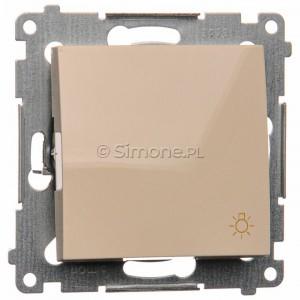 Simon 54 DS1.01/41 - Przycisk zwierny z symbolem światła 10A - Kremowy - Podgląd zdjęcia nr 1