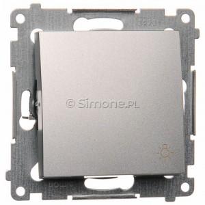 Simon 54 DS1.01/43 - Przycisk zwierny z symbolem światła 10A - Srebrny Mat - Podgląd zdjęcia nr 1