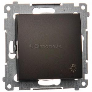 Simon 54 DS1.01/46 - Przycisk zwierny z symbolem światła 10A - Brąz Mat - Podgląd zdjęcia nr 1