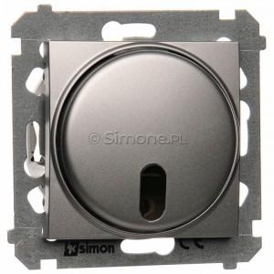 Simon 54 DS13T.01/43 - Ściemniacz zdalnie sterowany 20-500W - Srebrny Mat - Podgląd zdjęcia nr 1