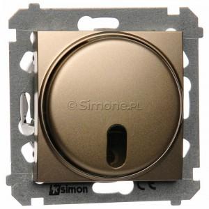 Simon 54 DS13T.01/44 - Ściemniacz zdalnie sterowany 20-500W - Złoty Mat - Podgląd zdjęcia nr 1
