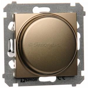 Simon 54 DS9L.01/44 - Ściemniacz naciskowo-obrotowy do LED - Złoty Mat - Podgląd zdjęcia nr 1