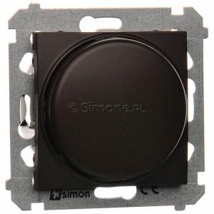 Simon 54 DS9L.01/46 - Ściemniacz naciskowo-obrotowy do LED - Brąz Mat - Podgląd zdjęcia nr 1