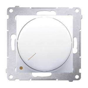 Simon 54 DS9L2.01/11 - Ściemniacz naciskowo-obrotowy dwubiegunowy do LED - Biały - Podgląd zdjęcia nr 1
