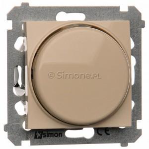 Simon 54 DS9T.01/41 - Ściemniacz naciskowo-obrotowy 20-500W - Kremowy - Podgląd zdjęcia nr 1