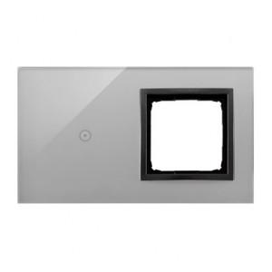 Simon 54 DSTR210/72 - Panel Simon Touch Szkło 2-Modułowy, 1M z jednym polem dotykowym (ST1M lub ST1S), 2M z dowolnym elementem osprzętu z serii Simon 54 - Burzowa Chmura - Podgląd zdjęcia nr 1