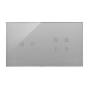 Simon 54 DSTR224/71 - Panel Simon Touch Szkło 2-Modułowy, 1M z dwoma polami dotykowymi w poziomie (ST2M lub ST2S), 2M z czterema polami dotykowymi (ST2Z) - Srebrna Mgła - Podgląd zdjęcia nr 1