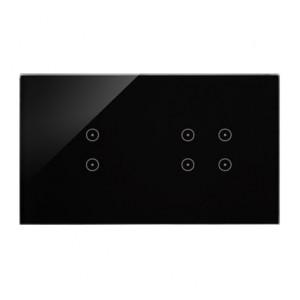 Simon 54 DSTR234/73 - Panel Simon Touch Szkło 2-Modułowy, 1M z dwoma polami dotykowymi w pionie (ST1Z), 2M z czterema polami dotykowymi (ST2Z) - Zastygła Lawa - Podgląd zdjęcia nr 1