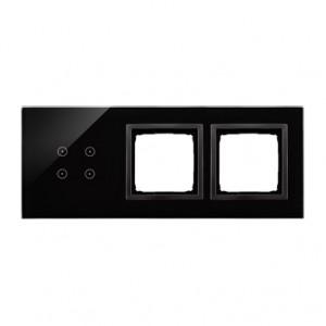 Simon 54 DSTR3400/73 - Panel Simon Touch Szkło 3-Modułowy, 1M z czterema polami dotykowymi (ST2Z), 2M z dowolnym elementem osprzętu z serii Simon 54, 3M z dowolnym elementem osprzętu z serii Simon 54 - Zastygła Lawa - Podgląd zdjęcia nr 1