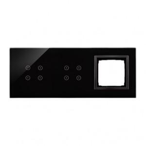 Simon 54 DSTR3440/73 - Panel Simon Touch Szkło 3-Modułowy, 1M z czterema polami dotykowymi (ST2Z), 2M z czterema polami dotykowymi (ST2Z), 3M z dowolnym elementem osprzętu z serii Simon 54 - Zastygła Lawa - Podgląd zdjęcia nr 1