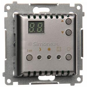 Simon 54 DTRNW.01/43 - Regulator temperatury z czujnikiem wewnętrznym i wyświetlaczem LCD - Srebrny Mat - Podgląd zdjęcia nr 1
