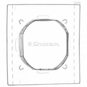 Simon 54 DU1 - Uszczelka IP44 do ramki pojedynczej - Podgląd zdjęcia nr 1