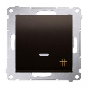 Simon 54 DW7L.01/46 - Łącznik krzyżowy z podświetleniem typu LED w kolorze niebieskim - Brąz Mat - Podgląd zdjęcia nr 1