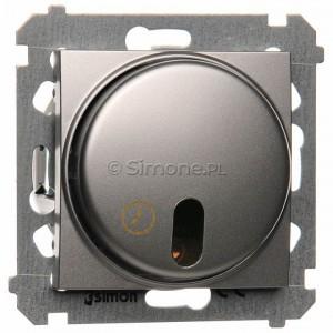 Simon 54 DWC10T.01/43 - Łącznik z opóźnieniem wyłączenia - Srebrny Mat - Podgląd zdjęcia nr 1