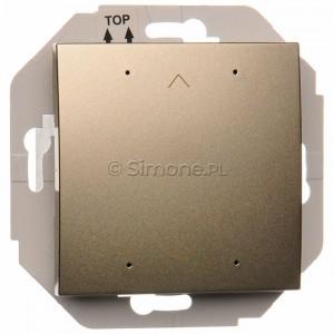 Simon 54 DZPCL.02/44 - Lokalny elektroniczny sterownik roletowy 4-funkcyjny z podświetleniem stanu pracy typu LED - Złoty Mat - Podgląd zdjęcia nr 1