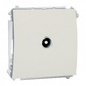 Simon Classic MAP1.01/10 - Gniazdo antenowe pojedyncze przelotowe (Mechanizm + Plakietka) - Ecru - Podgląd zdjęcia nr 1