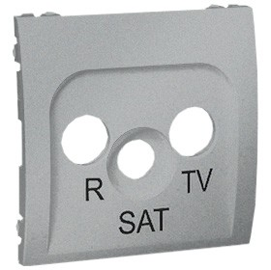 Simon Classic MASP/26 - Pokrywa gniazda antenowego RTV-SAT końcowego i przelotowego - Aluminiowy Met. - Podgląd zdjęcia nr 1