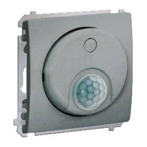 Simon Classic MCR10P.01/26 - Łącznik z czujnikiem ruchu z przekaźnikiem (Mechanizm + Plakietka) - Aluminiowy Met. - Podgląd zdjęcia nr 1