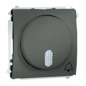 Simon Classic MDT1.01/25 - Dzwonek 8-12V (Mechanizm + Plakietka) - Grafitowy Met. - Podgląd zdjęcia nr 1