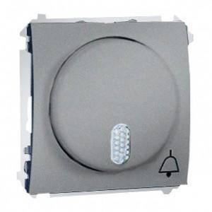 Simon Classic MDT1.01/26 - Dzwonek 8-12V (Mechanizm + Plakietka) - Aluminiowy Met. - Podgląd zdjęcia nr 1
