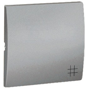 Simon Classic MKW7/26 - Klawisz pojedynczy do wyłącznika krzyżowego - Aluminiowy Met. - Podgląd zdjęcia nr 1