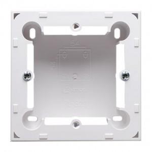 Simon Basic MPN1/11 - Puszka instalacyjna pojedyncza naścienna płytka - Biały - Podgląd zdjęcia nr 1