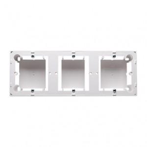 Simon Basic MPN3/11 - Puszka instalacyjna potrójna naścienna płytka - Biały - Podgląd zdjęcia nr 1