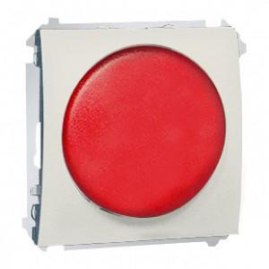 Simon Classic MSS/2.01/10 - Sygnalizator świetlny LED - światło czerwone (Mechanizm + Plakietka) - Ecru - Podgląd zdjęcia nr 1