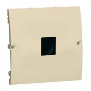 Simon Classic MTO.01/12 - Gniazdo telefoniczne RJ11 pojedyncze z ochronnikiem przepięciowym (Mechanizm + Plakietka) - Beżowy - Podgląd zdjęcia nr 1