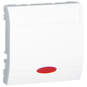 Simon Classic MWH2.02/11 - Łącznik hotelowy podwójny z podświetleniem, Max 2x10(2)A - Biały - Podgląd zdjęcia nr 1