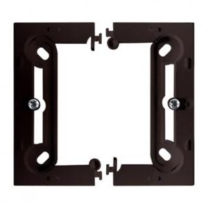 Simon Basic PSCS/47 - Puszka instalacyjna pojedyncza naścienna składana - Czekoladowy - Podgląd zdjęcia nr 1