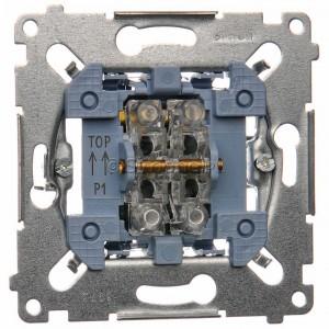 Simon 54 SP2M - Mechanizm przycisku zwiernego podwójnego 10A (do kompletu należy dokupić rameczkę oraz klawisze) - Mechanizmy - Podgląd zdjęcia nr 1