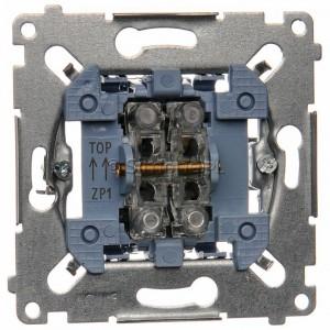 Simon 54 SZP1M - Mechanizm przycisku żaluzjowego dwuklawiszowego 10A (do kompletu należy dokupić rameczkę oraz klawisze) - Mechanizmy - Podgląd zdjęcia nr 1