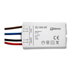 Simon 54 ZL14N-08 - Zasilacz LED natynkowy 14V, DC, 8W - Podgląd zdjęcia nr 1